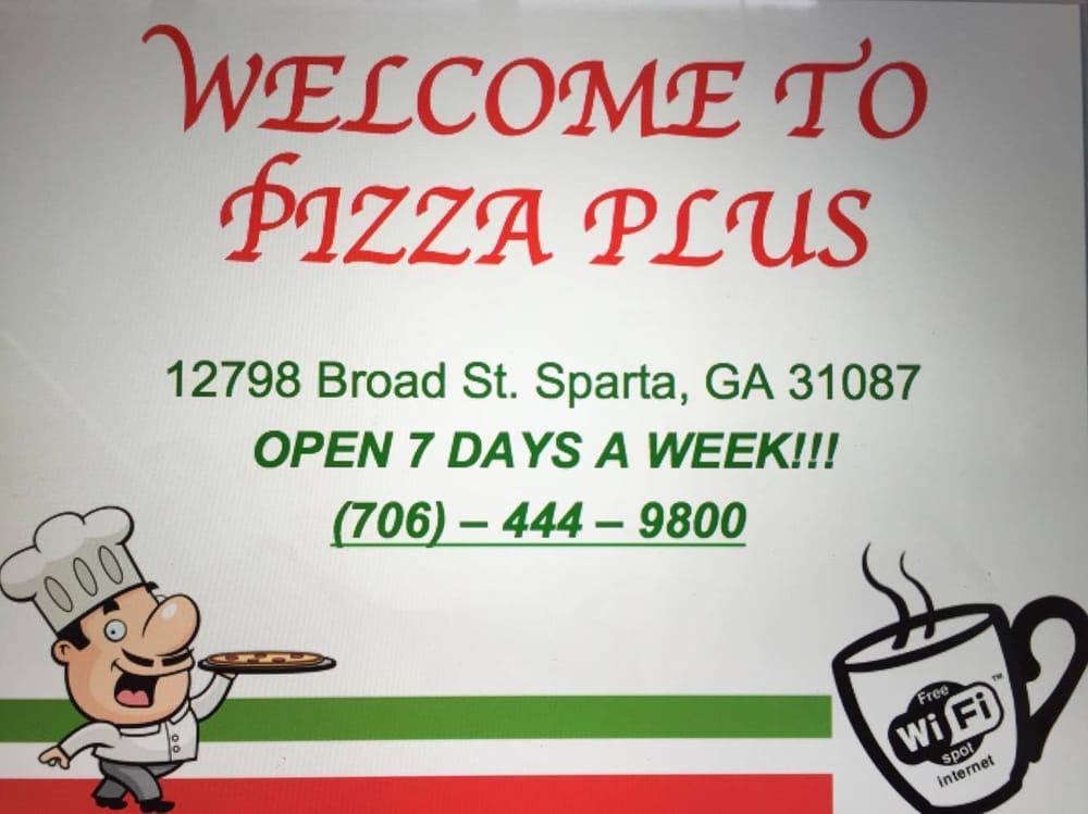 Pizza Plus: 12798 Broad St, Sparta, GA