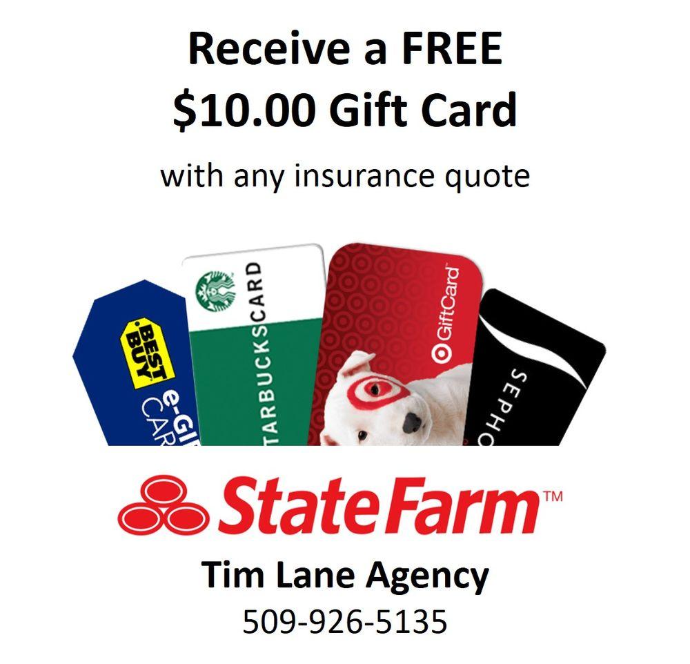 Tim Lane - State Farm Insurance Agent   1014 N Pines Rd Ste 101, Spokane Valley, WA, 99206   +1 (509) 926-5135