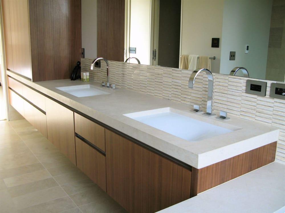 Mitered Edge Modern Bathroom Remodel North Tacoma Yelp - Bathroom remodel tacoma