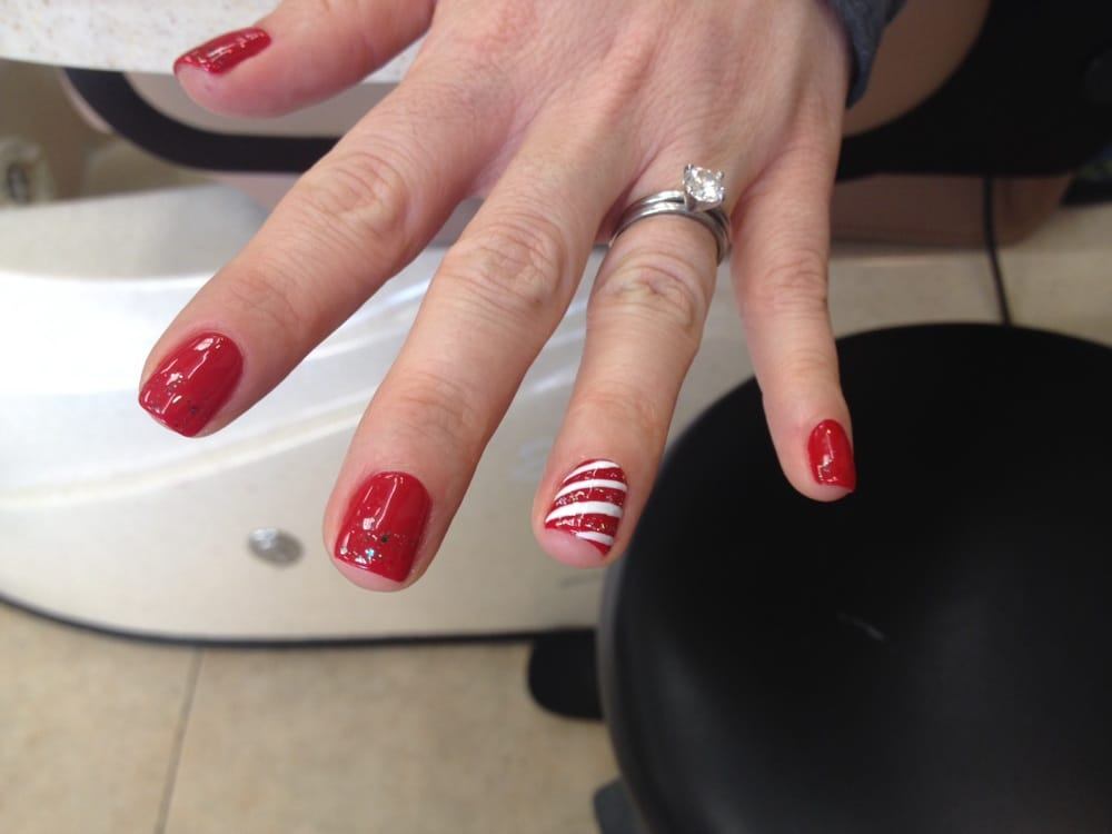 My friends fun holiday nails - Yelp