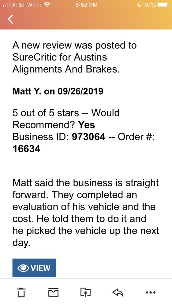 Austin's Alignments & Brakes