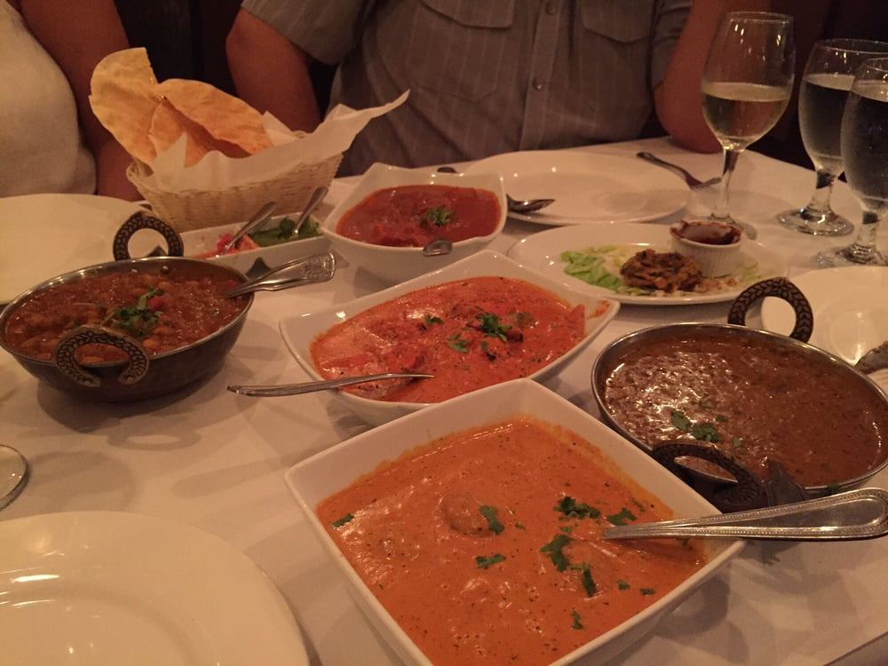 Clockwise from left channa masala lamb vindaloo dal for All about indian cuisine