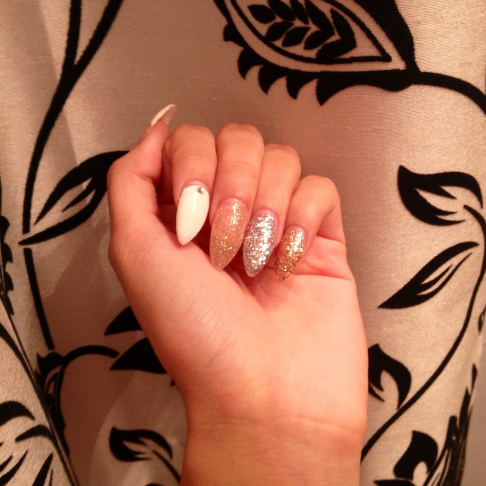 New Year\'s Eve nails inspired by Christina Milian. -by jenny - Yelp