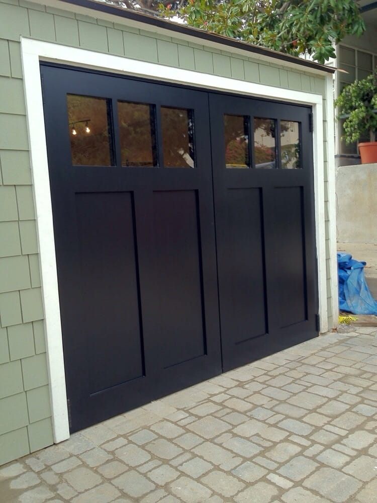 Craftsman style swing out carriage garage doors yelp for Garage doors styles