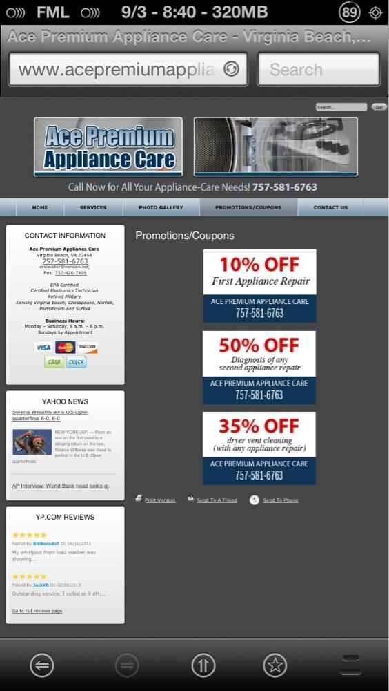 Ace Premium Appliance Care