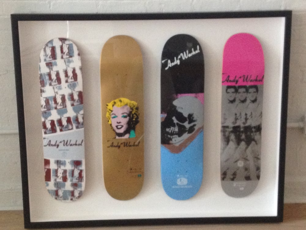 Skateboard shadowbox for client - Yelp