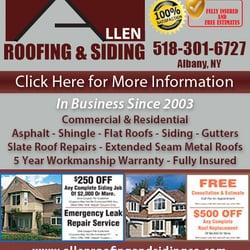 Photo Of Allen Roofing U0026 Siding Company   Albany, NY, United States. Ad