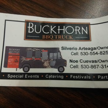 Buckhorn bbq food truck 41 photos 22 reviews food for Bbq catering business cards