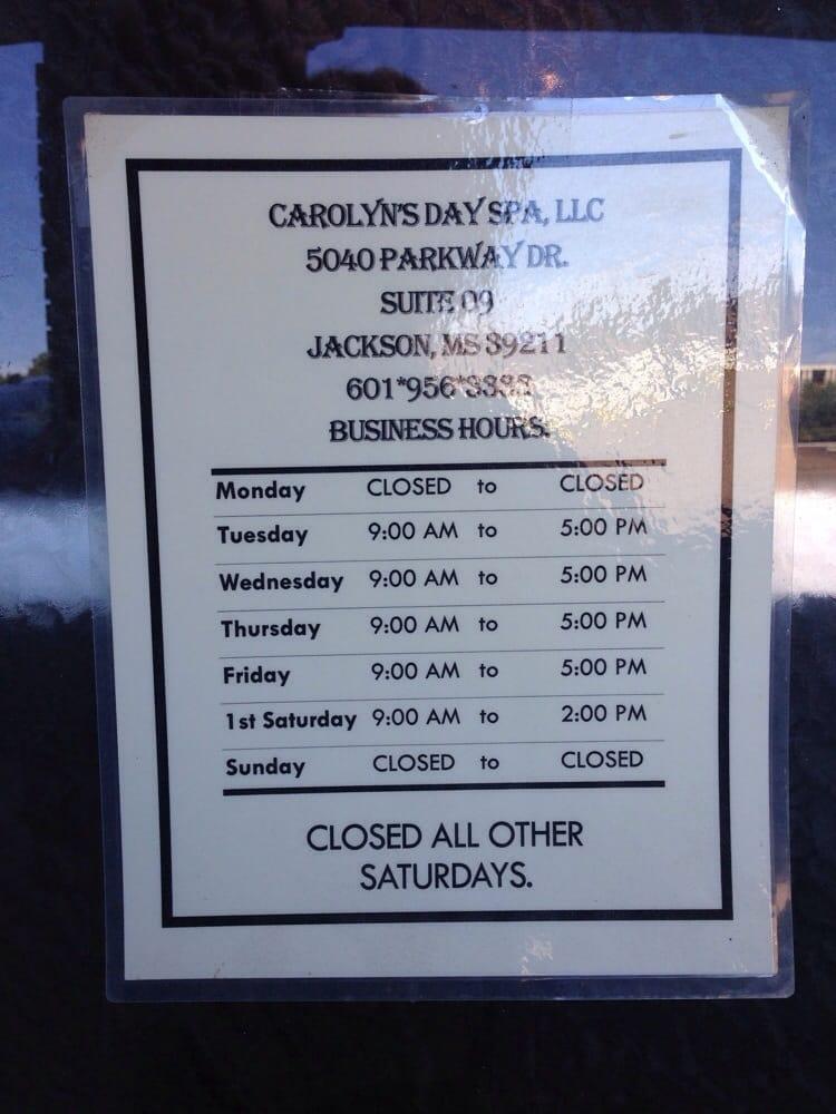 Carolyn S Day Spa Jackson Ms