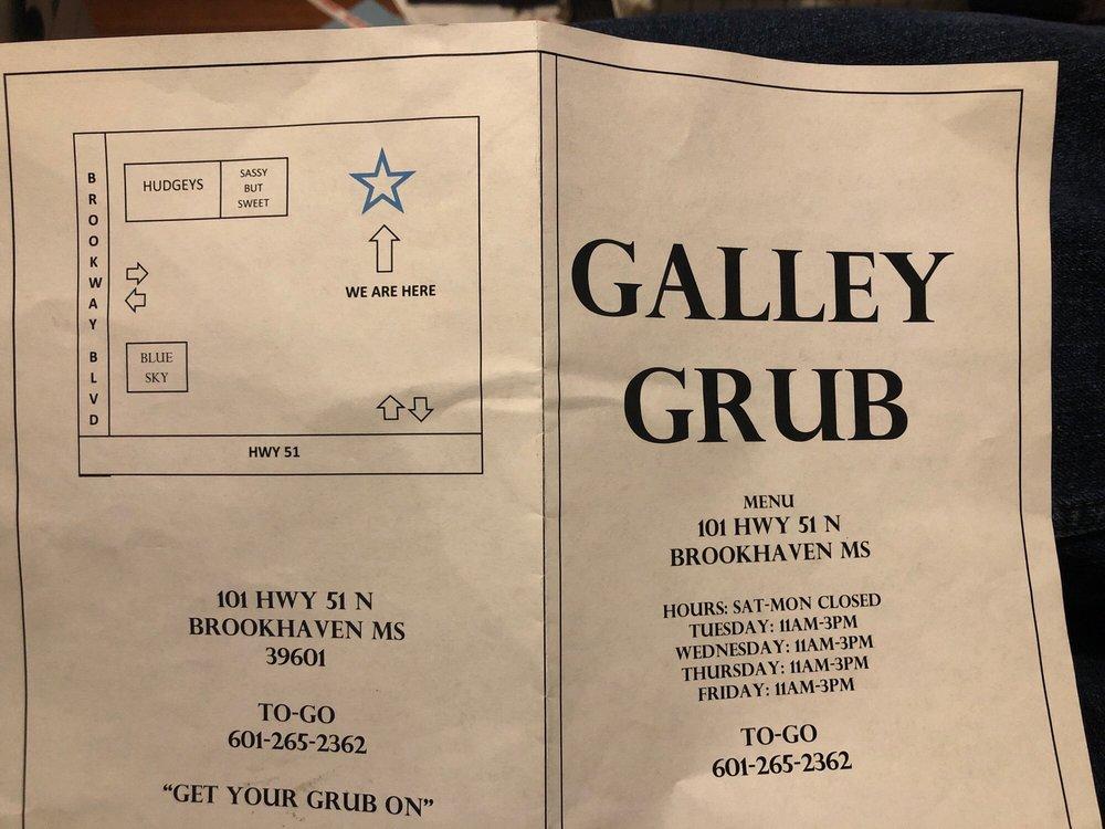 Galley Grub: 101 Hwy 51 N, Brookhaven, MS
