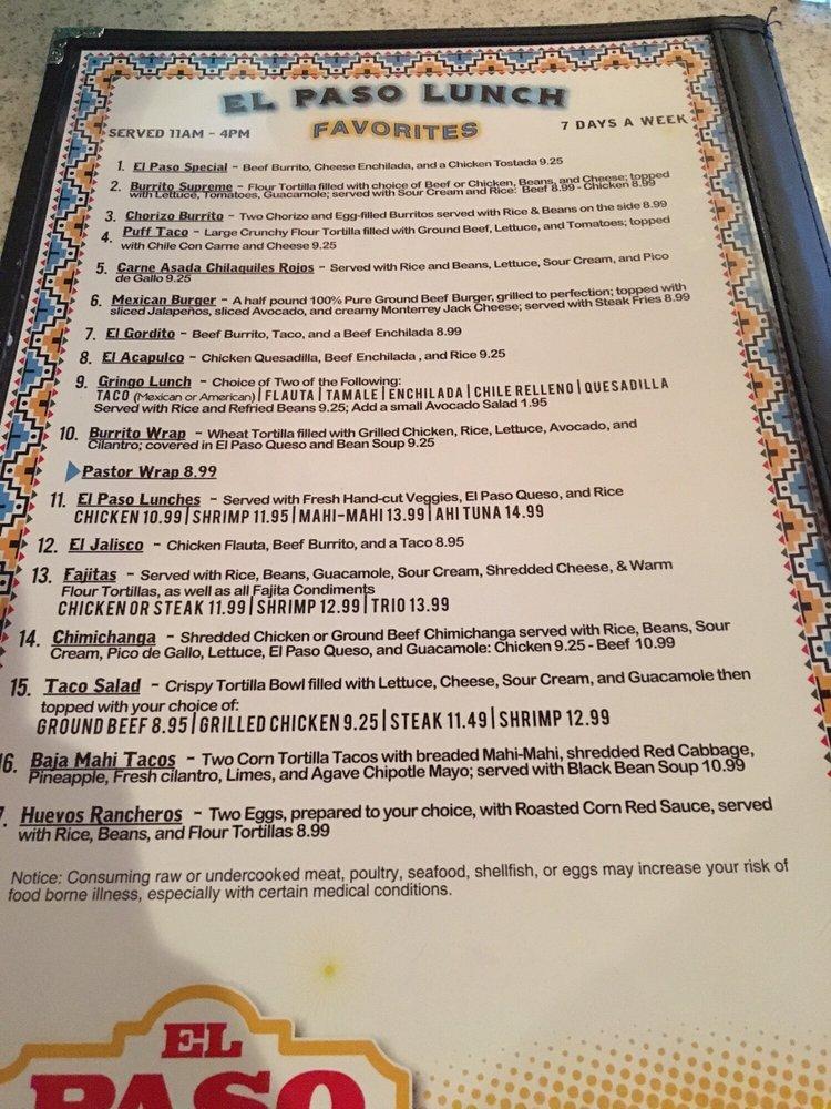 El Paso Mexican Grill: 165 Odd Fellows Rd, Crowley, LA