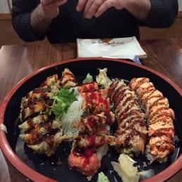 Momoyama Sushi House - Nanuet, NY, United States. L-R: Godzilla, Alligator, Bridge, Twinky.