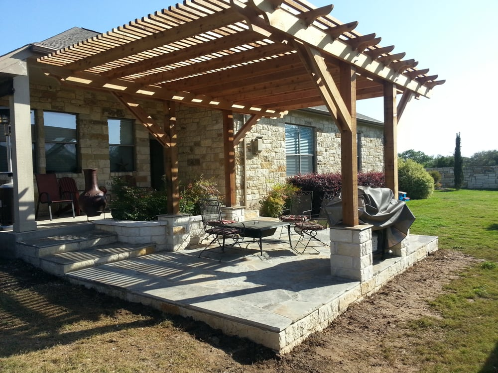 Flagstone Patio And Pergola In Round Rock Tx Yelp