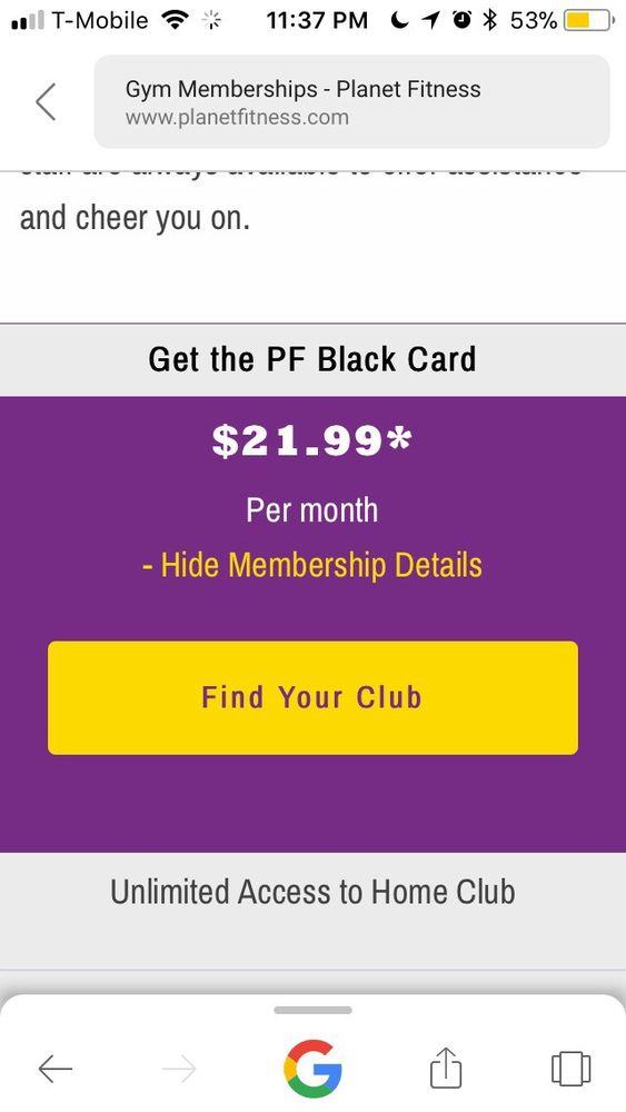 planet fitness pf black card membership
