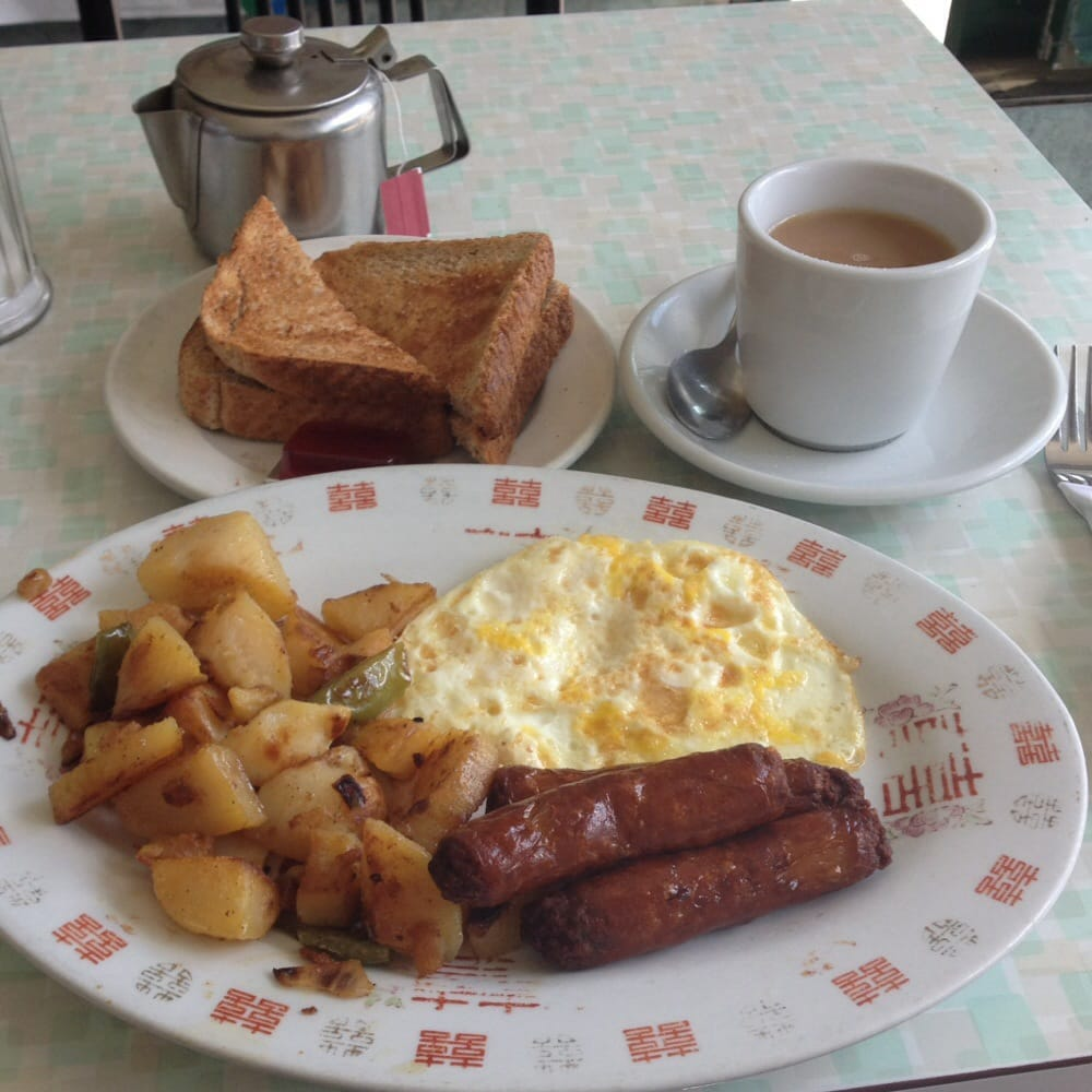Five bucks for two eggs sausage potatoes toast and for Cuisine queen