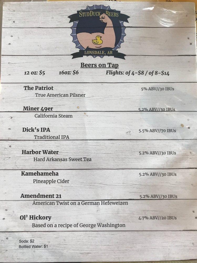 StudDuck Beers: 128 Bassett Trl, Lonsdale, AR