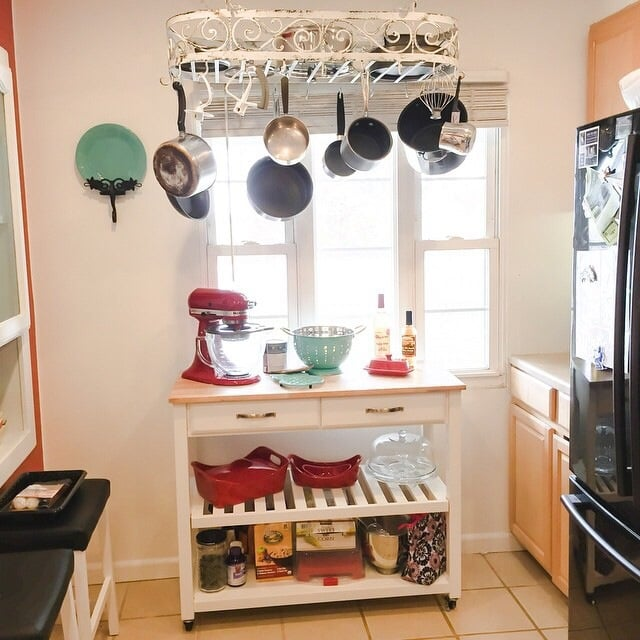 Pictures To Hang In Kitchen: This Hanging Pot Rack Added Additional Storage To Our