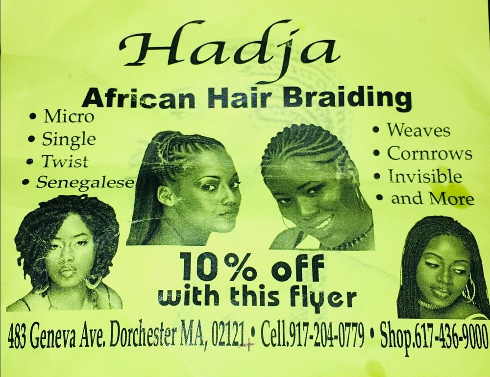 Hadja African Hair Braiding Hair Extensions 483 Geneva Ave