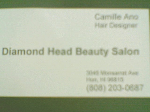 Camille anos business card hairstylist in waikiki honolulu oahu photo of diamond head beauty salon honolulu hi united states camille anos reheart Gallery