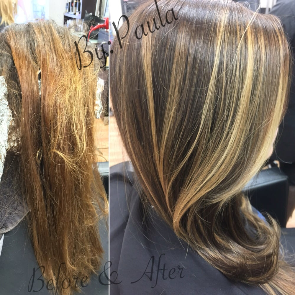 Before after by paula yelp for Salon haute coiffure paris