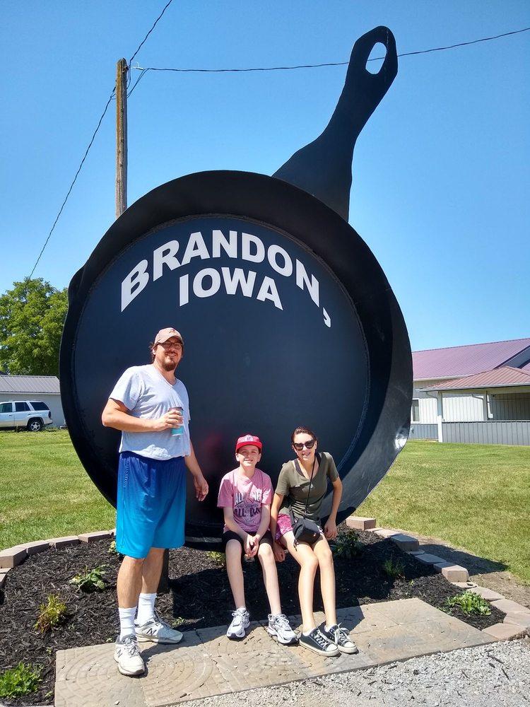 Iowa's Largest Frying Pan: Brandon, IA