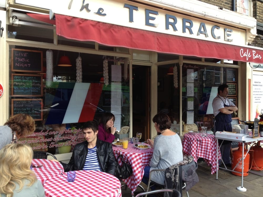 The terrace cafe bar fransk 83 bingley road shipley for The terrace cafe bar