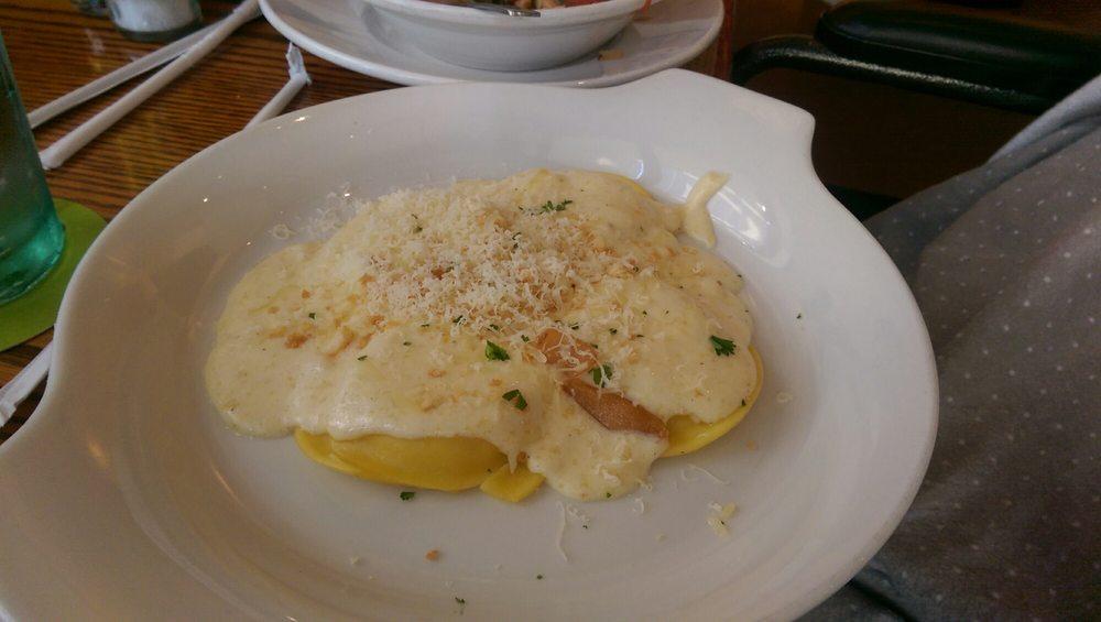 Cheese Ravioli On Asiago Alfredo Sauce Yelp
