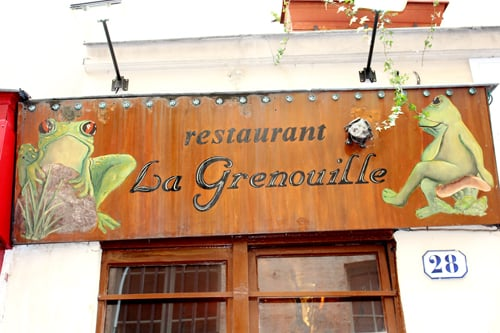 Outside yelp for Roger la grenouille paris