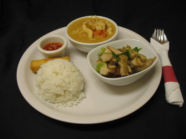 Lunch combination get to have 2 authentic thai dishes for for Aroy thai cuisine