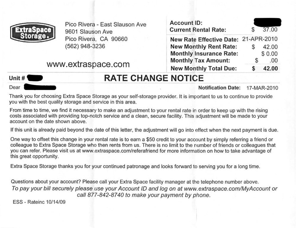 12 Month Rate Increase Letter. - Yelp