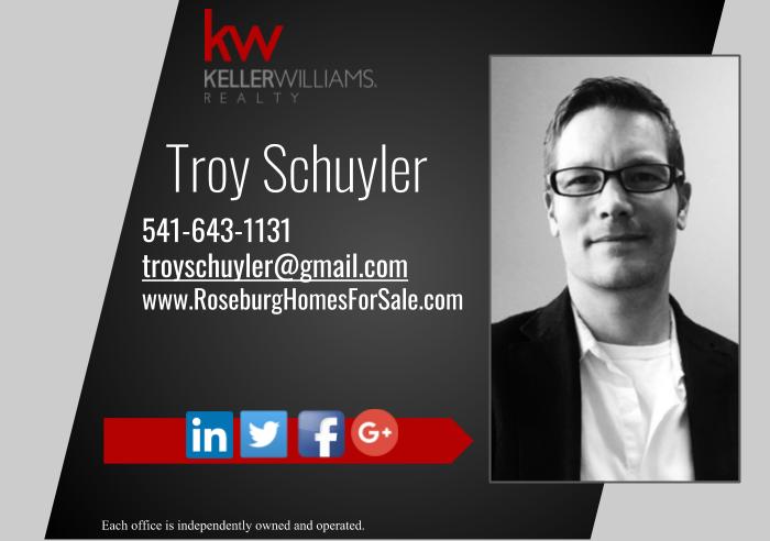 Troy Schuyler - Keller Williams Realty Umpqua Valley   2365 NW Kline St, Roseburg, OR, 97471   +1 (541) 643-1131