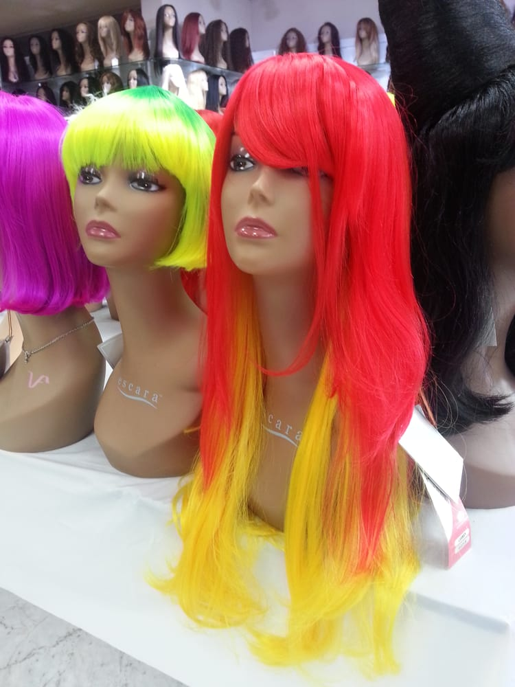 Check out the halloween wigs - Yelp