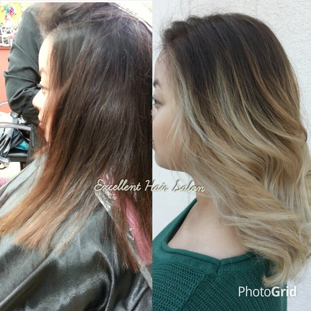 Ombre balayage haircut and style by kelly yelp for 360 salon fremont