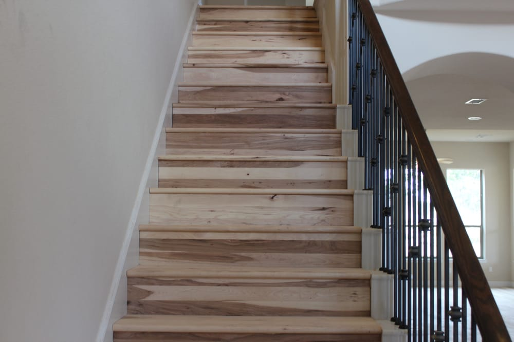 Photo Of Thompsonu0027s Hardwood Flooring   Austin, TX, United States. Hickory  Stair Treads