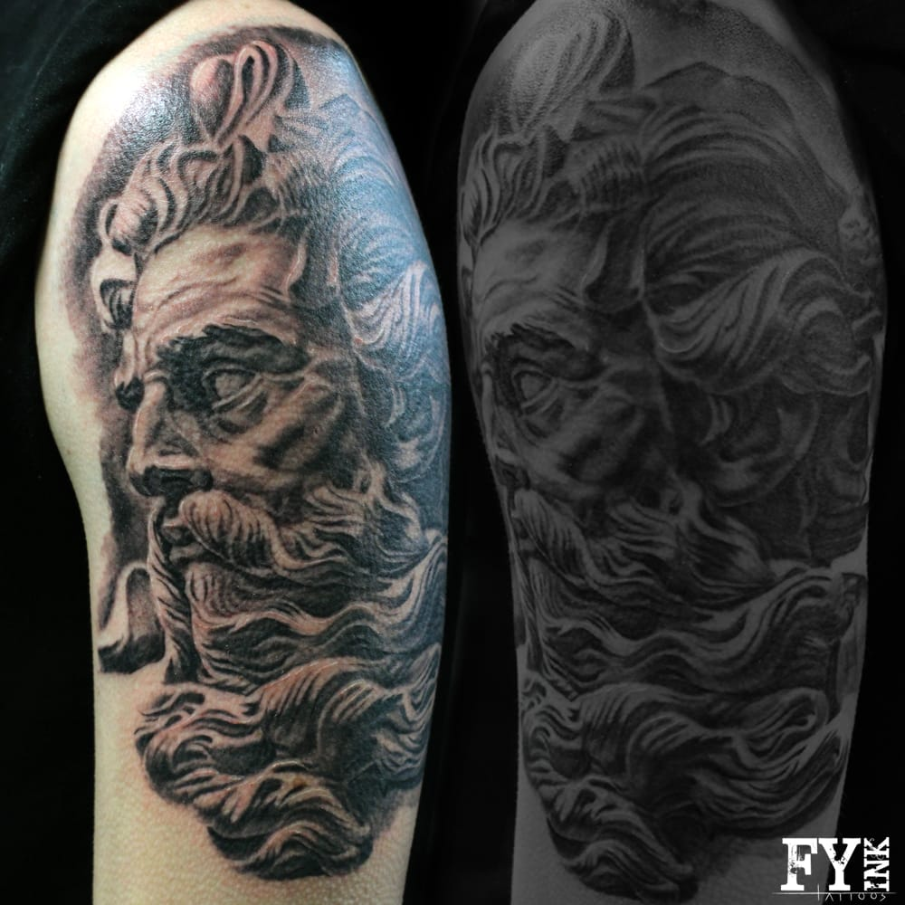 Poseidon tattoo by cesar yelp for All city tattoo