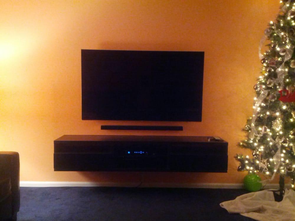 60 Inch Samsung Led Tv Samsung Sound Bar Floating Stand Assembled