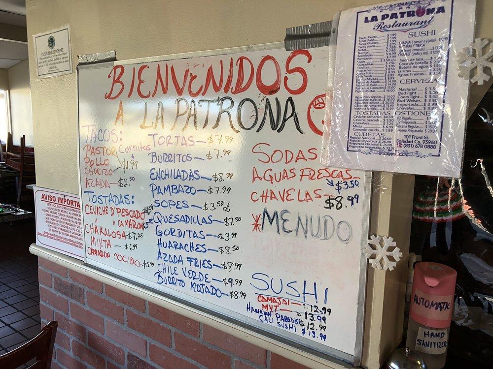 La Patrona Restaurant: 101 Front St, Soledad, CA