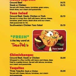 Photo Of Taco Patio   Lockport, IL, United States. Menu Page 3