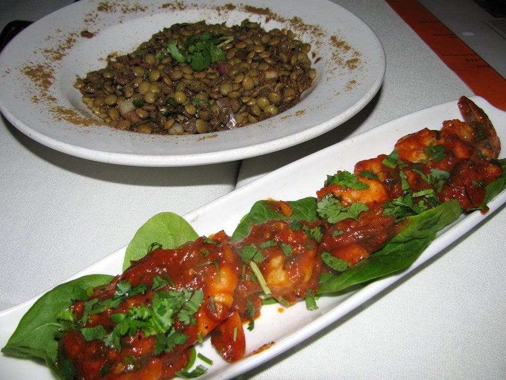 Lentil salad and shrimp pil pil yelp for Aicha moroccan cuisine san francisco