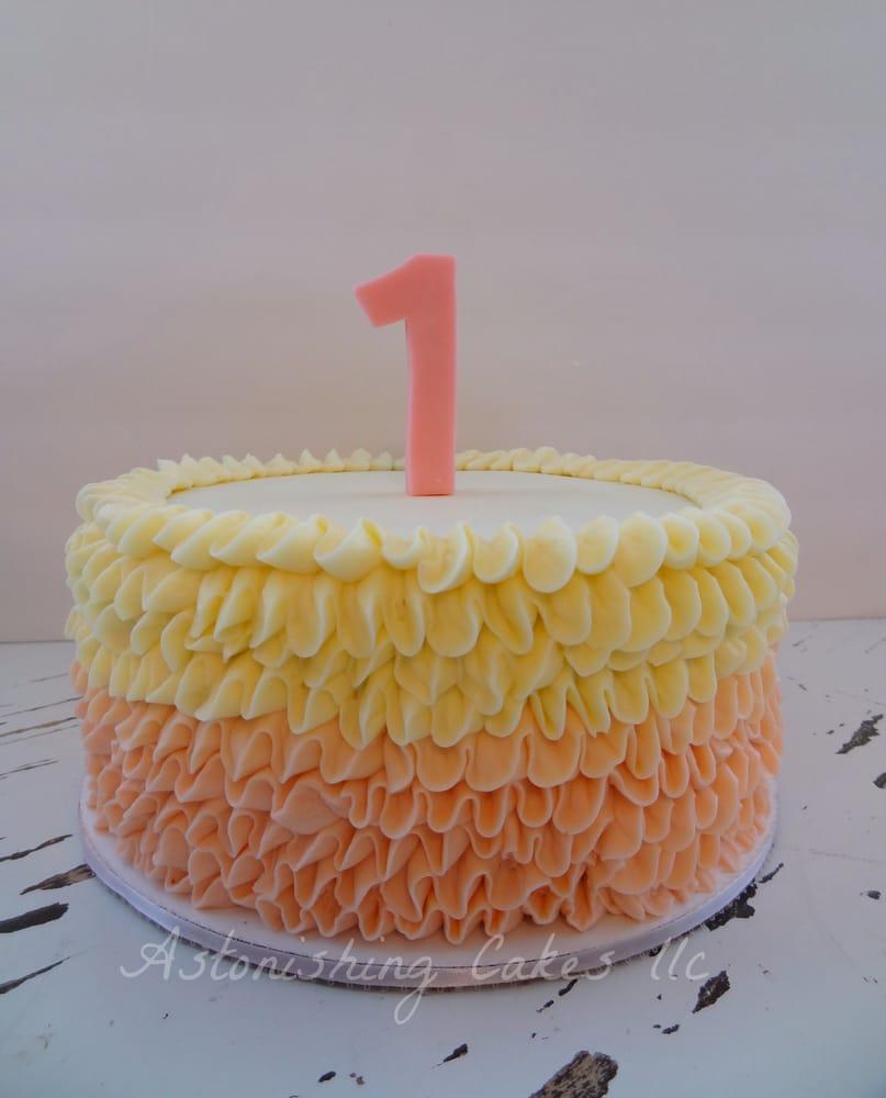 Ruffle Buttercream Cake