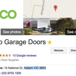eco garage doors garagentor service 10 national dr melbourne victoria australien. Black Bedroom Furniture Sets. Home Design Ideas