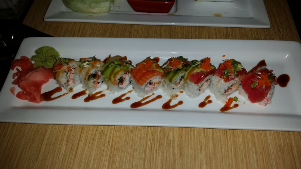 Rainbow roll yelp for Drunken fish kc