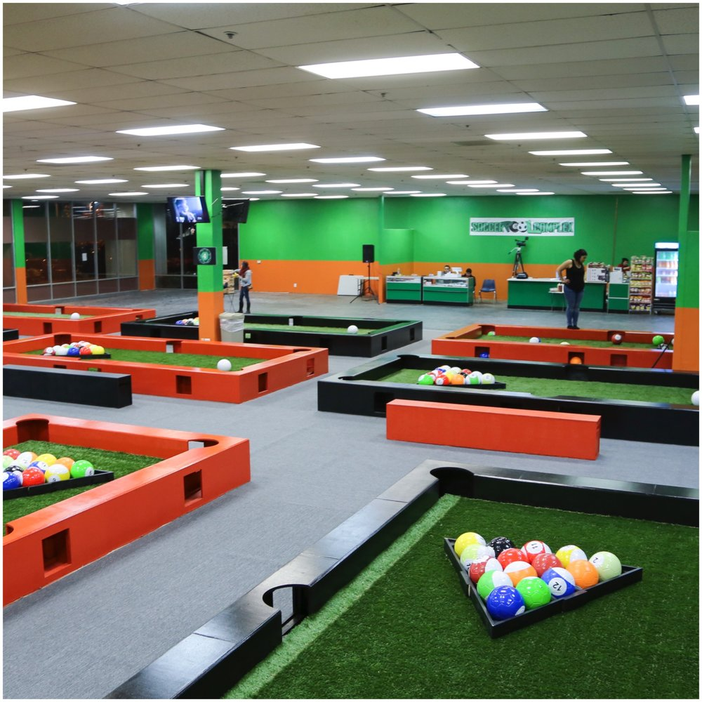 football snookball snookbal hire replaces and gardengameshire billiards pool table of a feet best that footpool with soccer cues combination