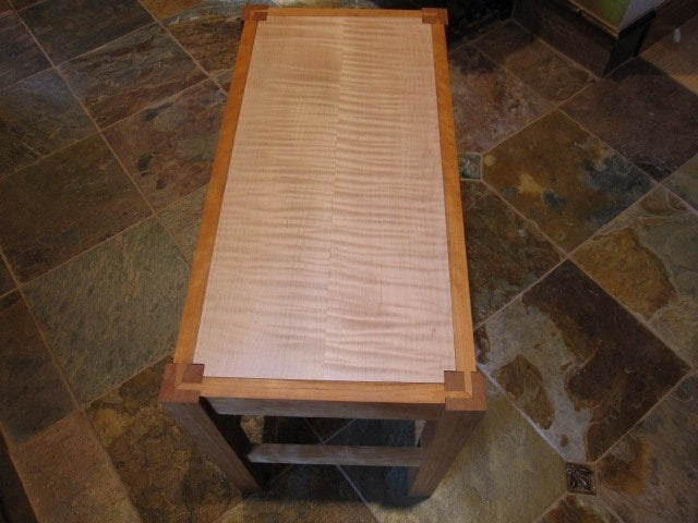 Top View First Project Made Class 102 Small Hall Table Bench