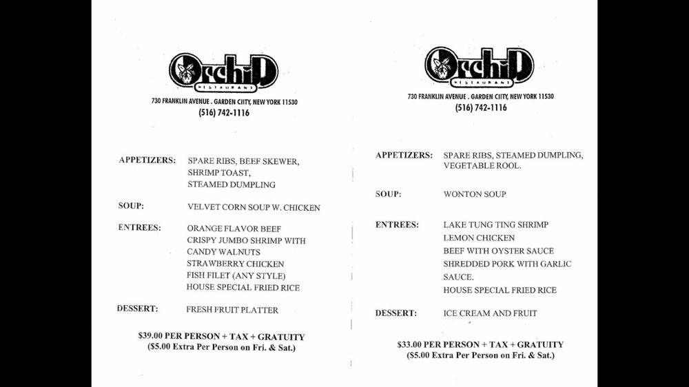 Online Menu Of Orchid Restaurant Garden City New York 11530 Zmenu