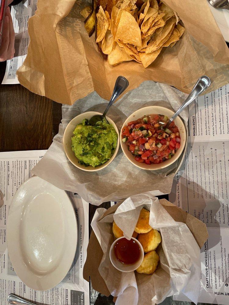 Food from Bomba Taco + Bar