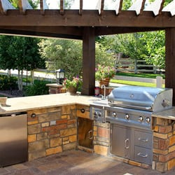 Outstanding Outdoor Kitchens And Patios Landscaping 7010 Donwel Download Free Architecture Designs Rallybritishbridgeorg