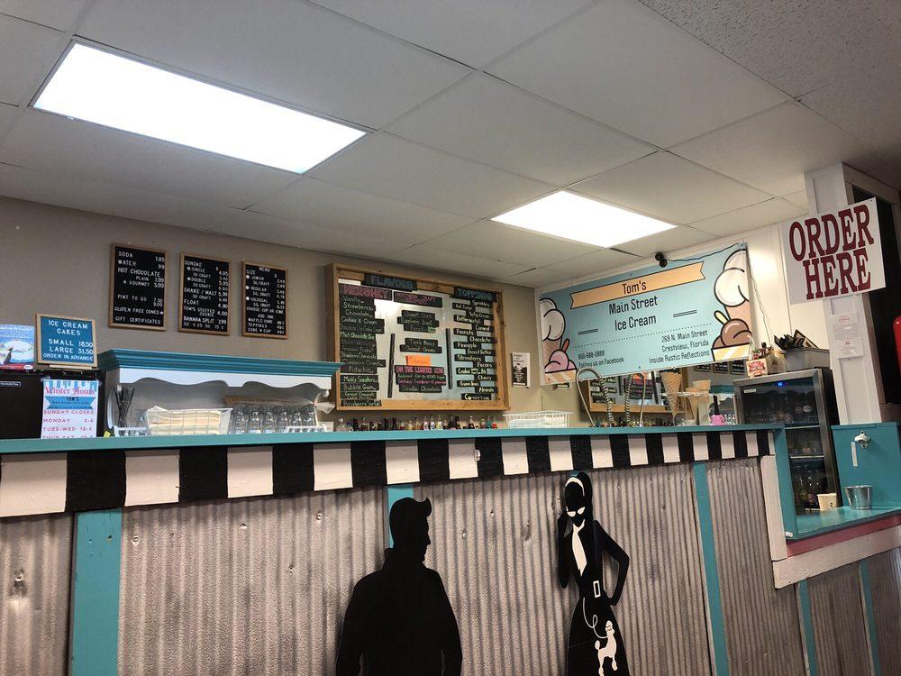 Tom's Main Street Ice Cream: 269 N Main St, Crestview, FL