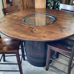 Photo Of Quality Woods   Rochester, MN, United States. Pub Table With Barrel