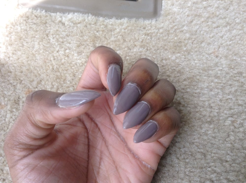 Crusty Nail Glue On Stiletto Nails Yelp